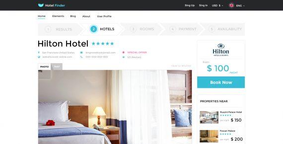 hotel finder – online booking psd template screenshot 10