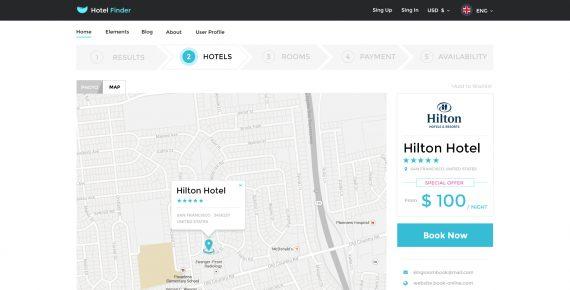 hotel finder – online booking psd template screenshot 12