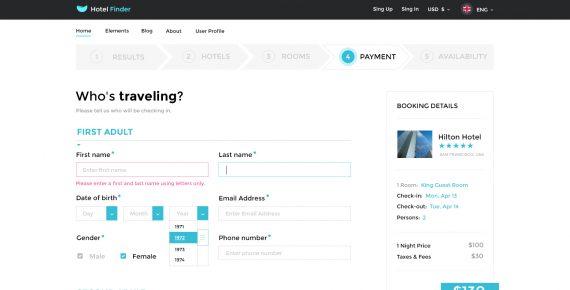 hotel finder – online booking psd template screenshot 13