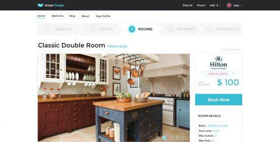hotel finder – online booking psd template screenshot 14