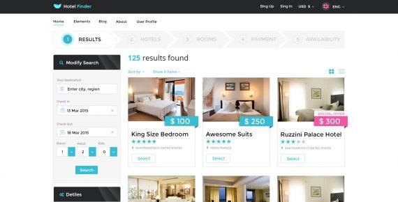 hotel finder – online booking psd template screenshot 16