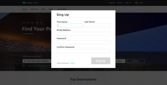 hotel finder – online booking psd template screenshot 22