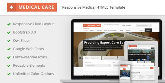 medical care – responsive medical html5 template screenshot 1