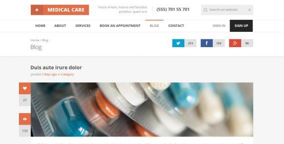 medical care – responsive medical html5 template screenshot 3
