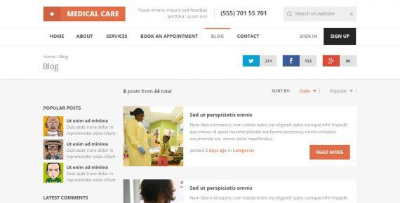 medical care – responsive medical html5 template screenshot 4