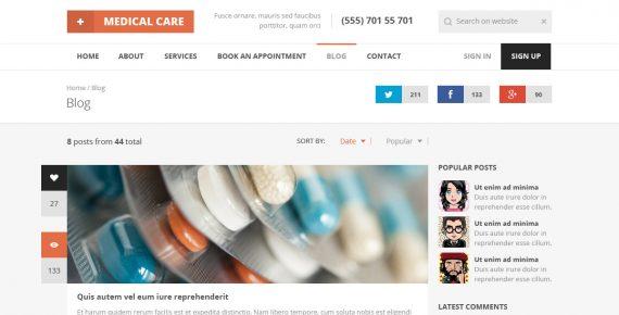 medical care – responsive medical html5 template screenshot 6