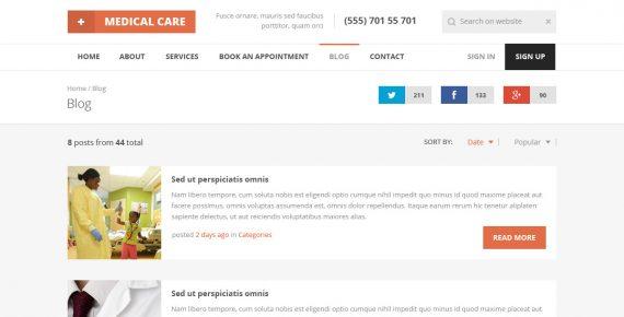 medical care – responsive medical html5 template screenshot 7