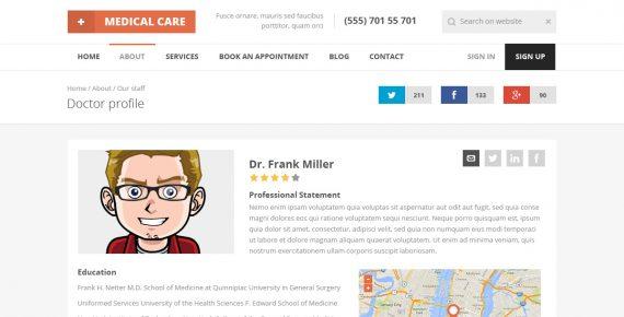 medical care – responsive medical html5 template screenshot 13
