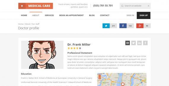 medical care – responsive medical html5 template screenshot 16