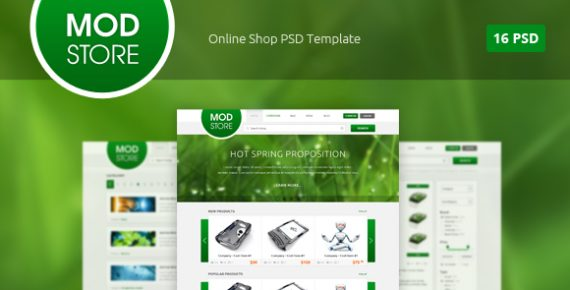 Modstore - Online Shop PSD Template