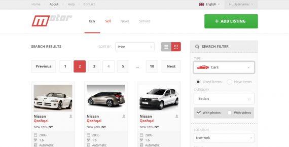 motor – vehicle marketplace psd template screenshot 11