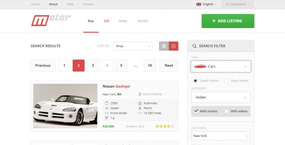 motor – vehicle marketplace psd template screenshot 12