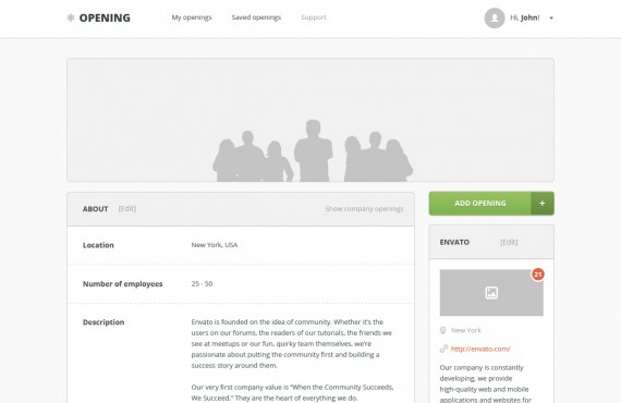 opening – job board html template screenshot 6