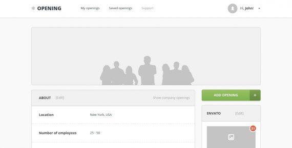 opening – job board psd template screenshot 3