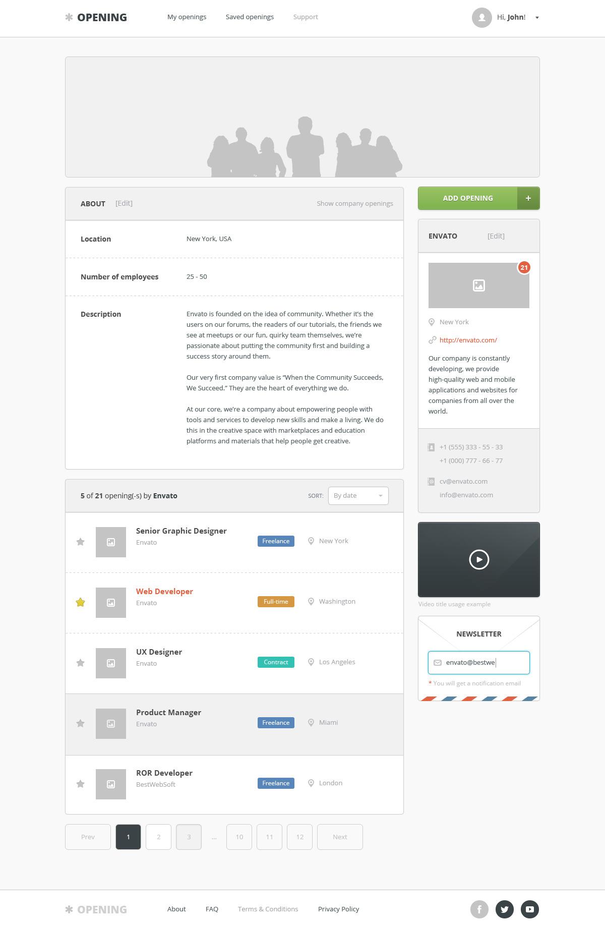 opening – job board wordpress theme screenshot 3