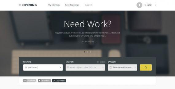 opening – job board psd template screenshot 5
