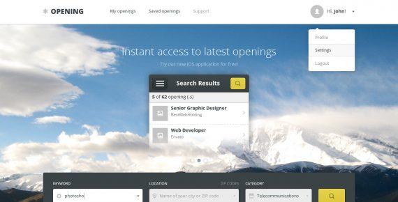 opening – job board psd template screenshot 6
