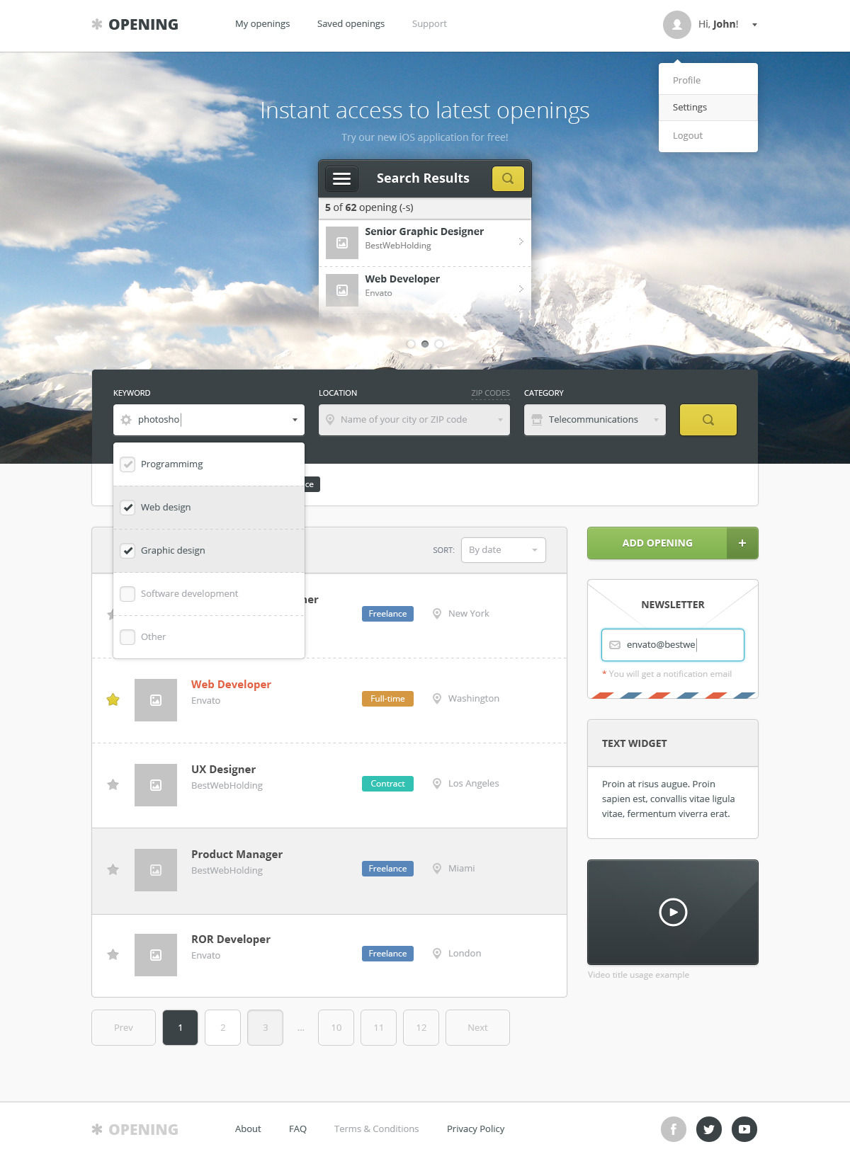 opening – job board wordpress theme screenshot 6
