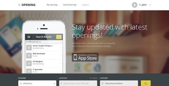 opening – job board psd template screenshot 7