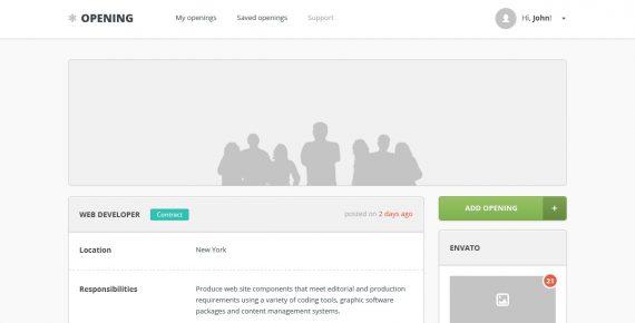 opening – job board psd template screenshot 8