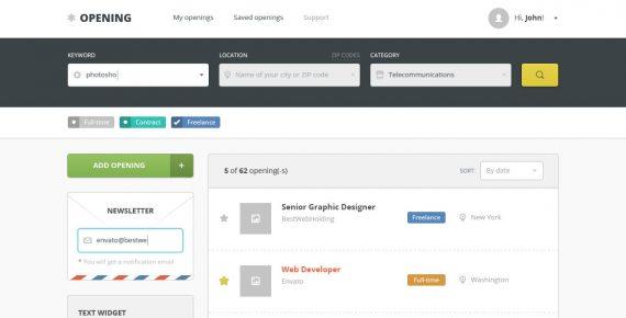 opening – job board psd template screenshot 10