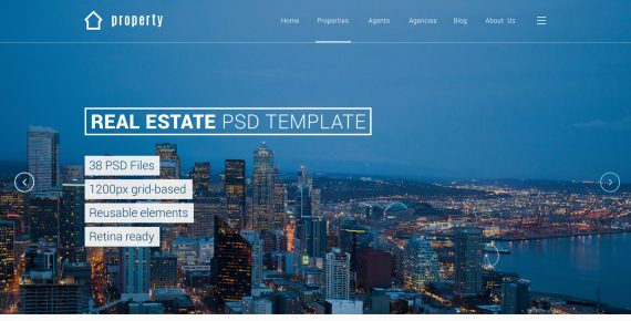 property – real estate psd template screenshot 4