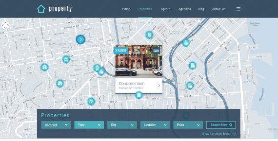 property – real estate psd template screenshot 6