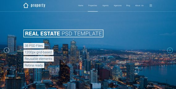 property – real estate psd template screenshot 9