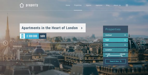 property – real estate psd template screenshot 22