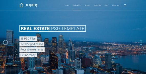 property – real estate psd template screenshot 24