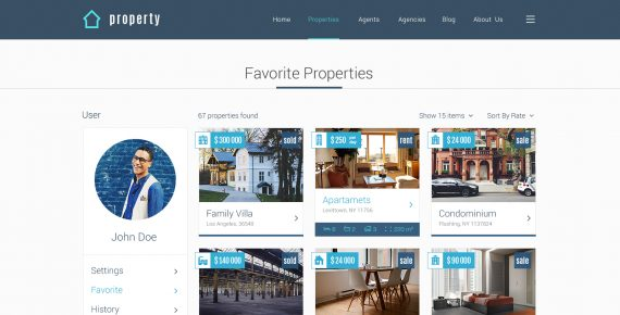 property – real estate psd template screenshot 36