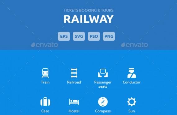 railway tickets booking & trips – vector icons screenshot 1