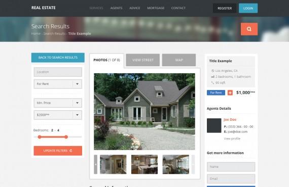 real estate – wordpress theme screenshot 4