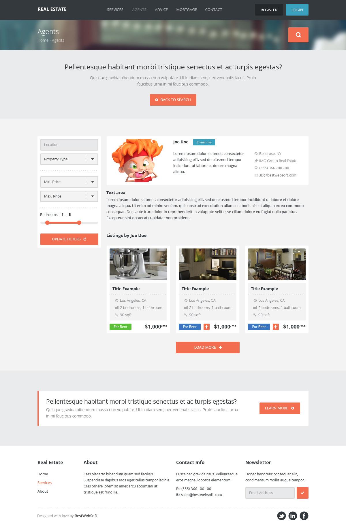 real estate – creative wordpress theme screenshot 1