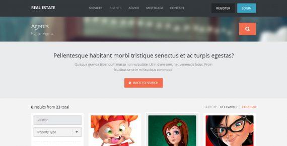 real estate – creative html template screenshot 2