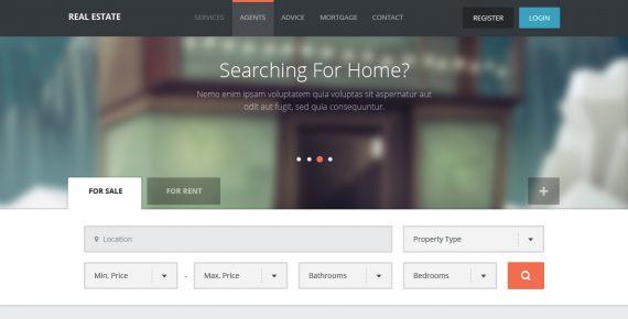 real estate – creative html template screenshot 5