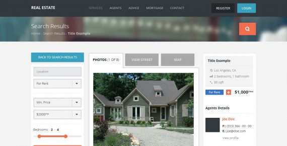 real estate – creative psd template screenshot 6