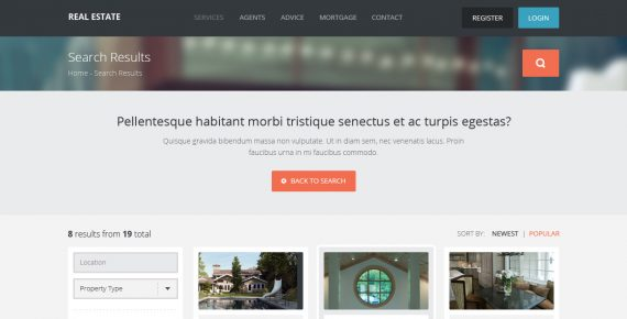 real estate – creative html template screenshot 9