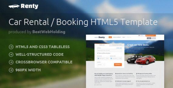 Renty Car Rental HTML5 Template