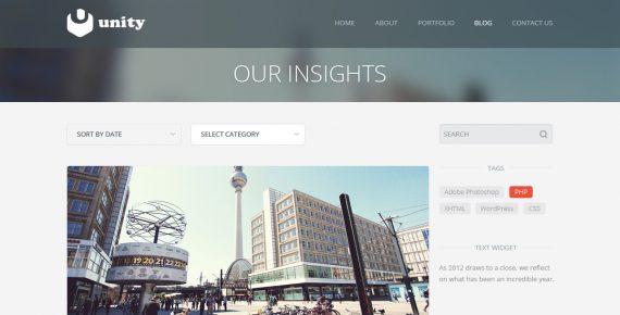 unity – multipurpose html template screenshot 2