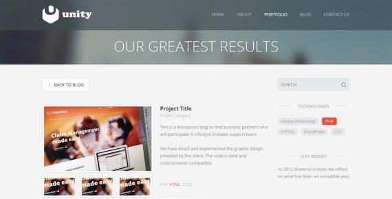 unity – multipurpose html template screenshot 6