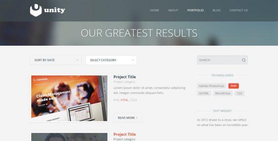 unity – multipurpose html template screenshot 7