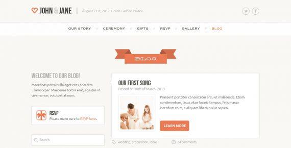 wedding – creative psd template screenshot 1