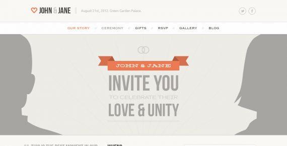 wedding – creative psd template screenshot 8