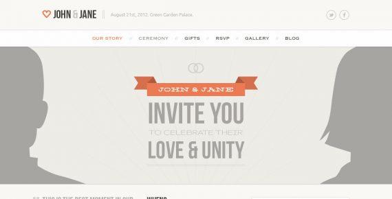 wedding – creative psd template screenshot 7