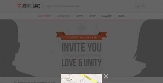 wedding – creative psd template screenshot 9
