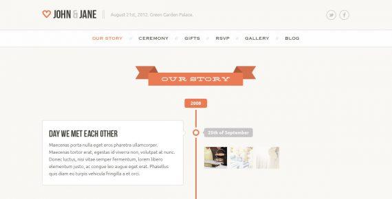 wedding – creative psd template screenshot 10