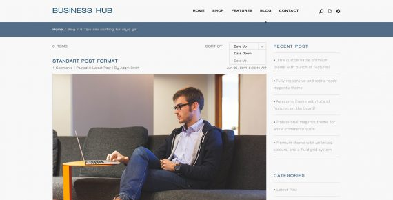 business hub – multipurpose psd template screenshot 1