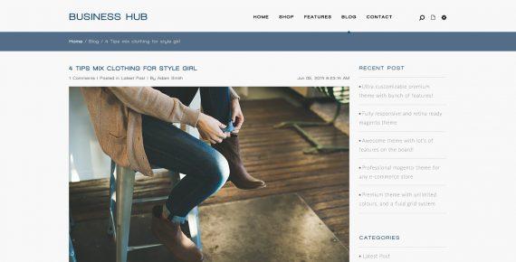business hub – multipurpose psd template screenshot 2