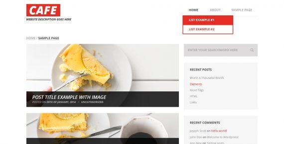 cafe – multipurpose psd template screenshot 1